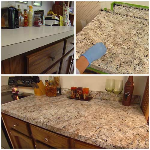 how to paint any countertops to look like granite diy created